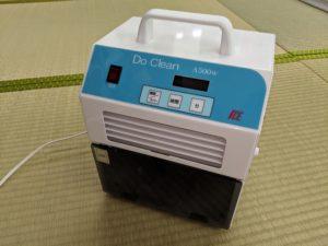 ふとんの池田で真綿ふとんのメンテナンスに使用している除菌消臭加工の機械DoClean